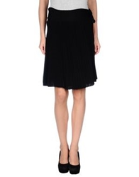 Emporio Armani Knee Length Skirts Black