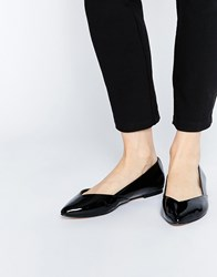 Asos Lucy Wide Fit Ballet Flats Black