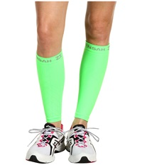 Zensah Compression Leg Sleeves Neon Green Athletic Sports Equipment