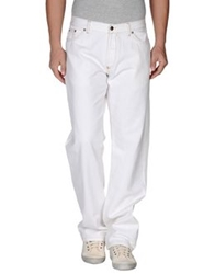 Husky Denim Pants White