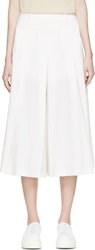 Each X Other White Cropped Wide Leg Trousers