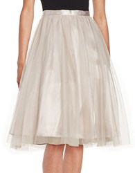 Marina Tulle A Line Skirt Taupe