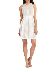 Donna Morgan Crochet Overlay Fit And Flare Dress White