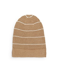 Vince Camuto Thermal Striped Hat Camel