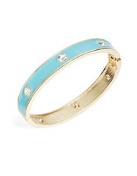 Theodora And Callum Rhinestone Bangle Bracelet Turquoise