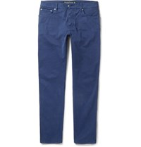Hackett London Slim Fit Stretch Cotton Chinos Blue