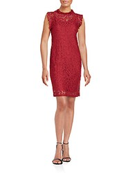 Alexia Admor Lace Sheath Dress Cherry Wine