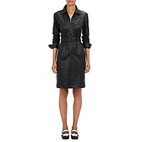 Tomas Maier Women's Leatherette Shirtdress Black Blue Black Blue