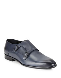 Hugo Boss Double Monk Strap Shoes Navy