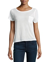 Alice Olivia Rolled Sleeve Front Pocket Tee Xs