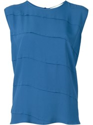8Pm Panelled Sleeveless Blouse Blue
