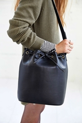 Cooperative Structured Bucket Bag Black