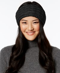 Echo Braid Stitch Headband Black