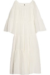 Lisa Marie Fernandez Cotton Blend Voile Maxi Dress White