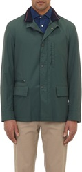 Luciano Barbera Tech Taffeta Field Jacket Green Size Small