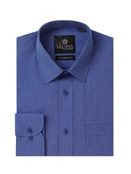 Skopes Easy Care Formal Tailored Eoe Shirts Blue