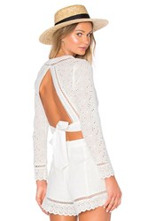 Endless Rose Open Back Crop Top White