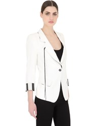 Ann Demeulemeester Linen And Cotton Blend Gauze Jacket