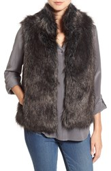 Bb Dakota Women's 'Colton' Faux Fur Vest Black