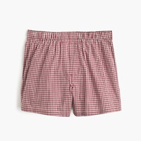 J.Crew Red Gingham Boxers Red Maple