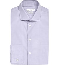Richard James Contemporary Fit Striped Cotton Shirt Lilac