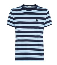 Burberry Sailor Stripe T Shirt Male Navy