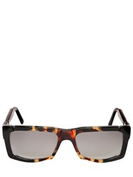 Kuboraum Berlin Blocked Acetate Rectangular Sunglasses
