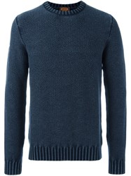 Tod's Crew Neck Jumper Blue