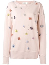 Faith Connexion Floral Embellished Sweatshirt Pink Purple