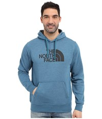 The North Face Half Dome Hoodie Blue Coral Heather Asphalt Grey Men's Long Sleeve Pullover