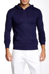Yoki Long Sleeve Hooded Sweater Blue