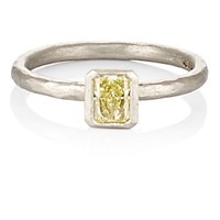 Malcolm Betts Women's Yellow Diamond Ring No Color