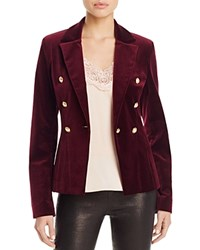 Aqua X Maddie And Tae Velvet Gold Button Blazer 100 Bloomingdale's Exclusive Wine