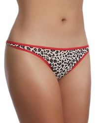 Felina Sublime Thong Taupe Cheetah