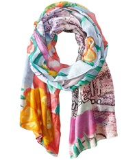Desigual Hawai La France Blue Scarves