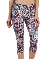 Karen Kane Active Cropped Kaleidoscope Pants Pink Multi