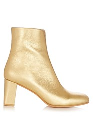 Maryam Nassir Zadeh Agnes Metallic Leather Ankle Boots Gold