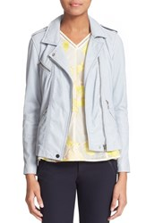 Women's Rebecca Taylor Washed Leather Moto Jacket