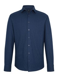 Paul Costelloe Regent Cotton Flannel Tailored Shirt Navy