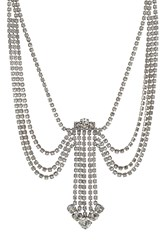 Marc Jacobs Statement Crystal Necklace Silver