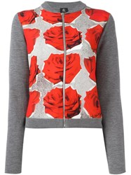 Paul Smith Ps By Rose Print Cardigan Grey