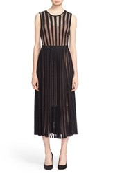 Tracy Reese Women's Flared Stripe Lace Dress