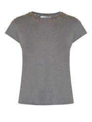 Valentino Rockstud Short Sleeved T Shirt Grey