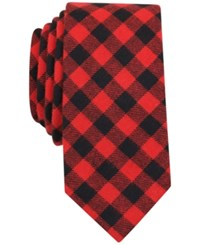 Bar Iii Men's Hawkins Check Slim Tie Only At Macy's Red