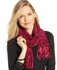 Charter Club Marled Chenille Shaker Scarf Pink Eggplant Multi