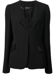 Fendi Collarless Blazer Black