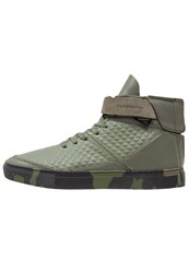 Cayler And Sons Hamachi Hightop Trainers Army Green Black Khaki
