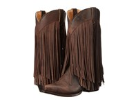 Roper Tall Fringe Brown Burnished Cowboy Boots