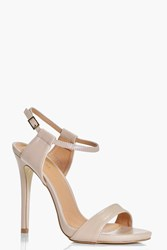 Boohoo Ankle Band Two Part Sandal Nude