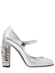 Dolce And Gabbana 105Mm Clock Metallic Leather Pumps